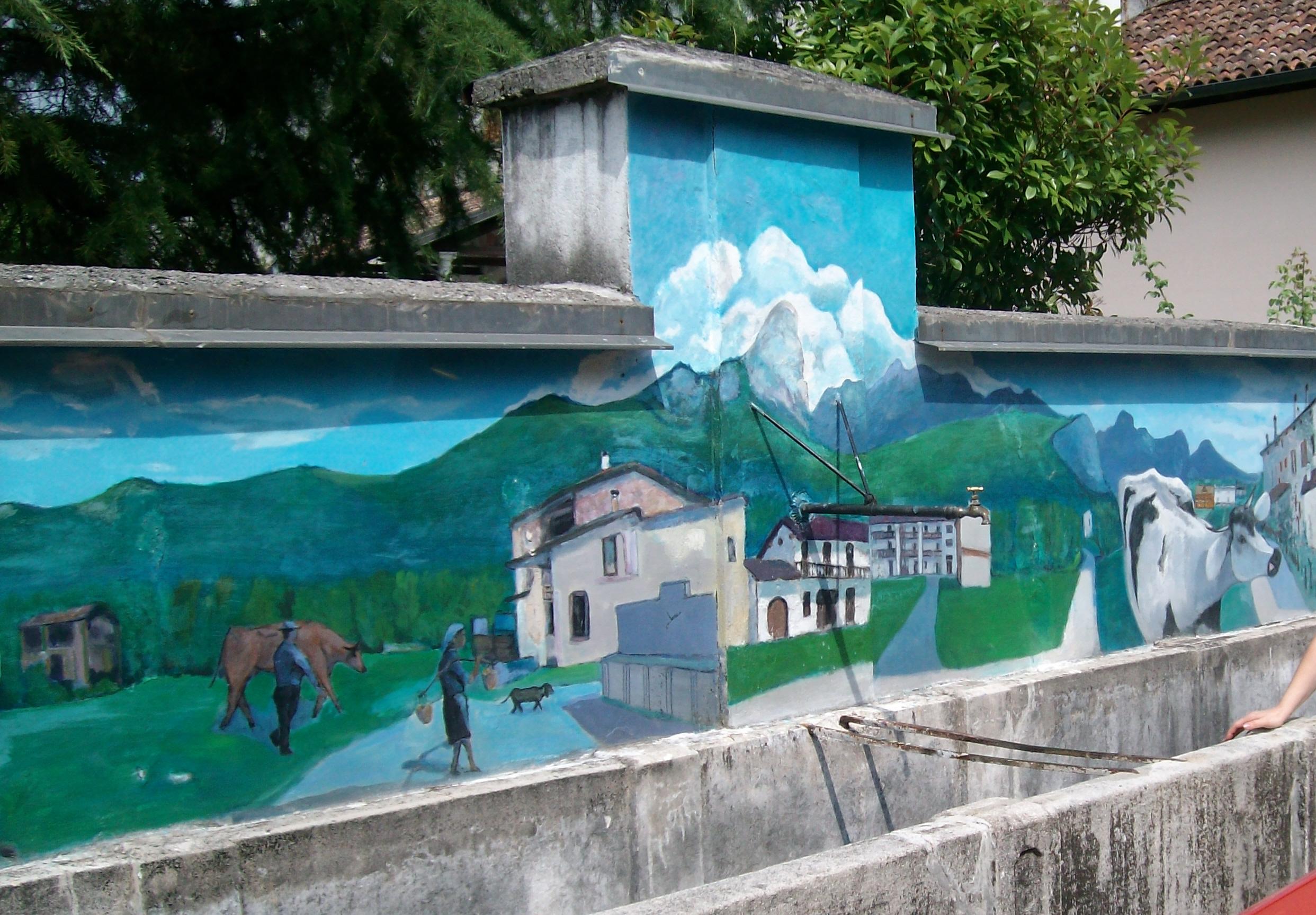 Una delle poche fontane di paese sopravvissute