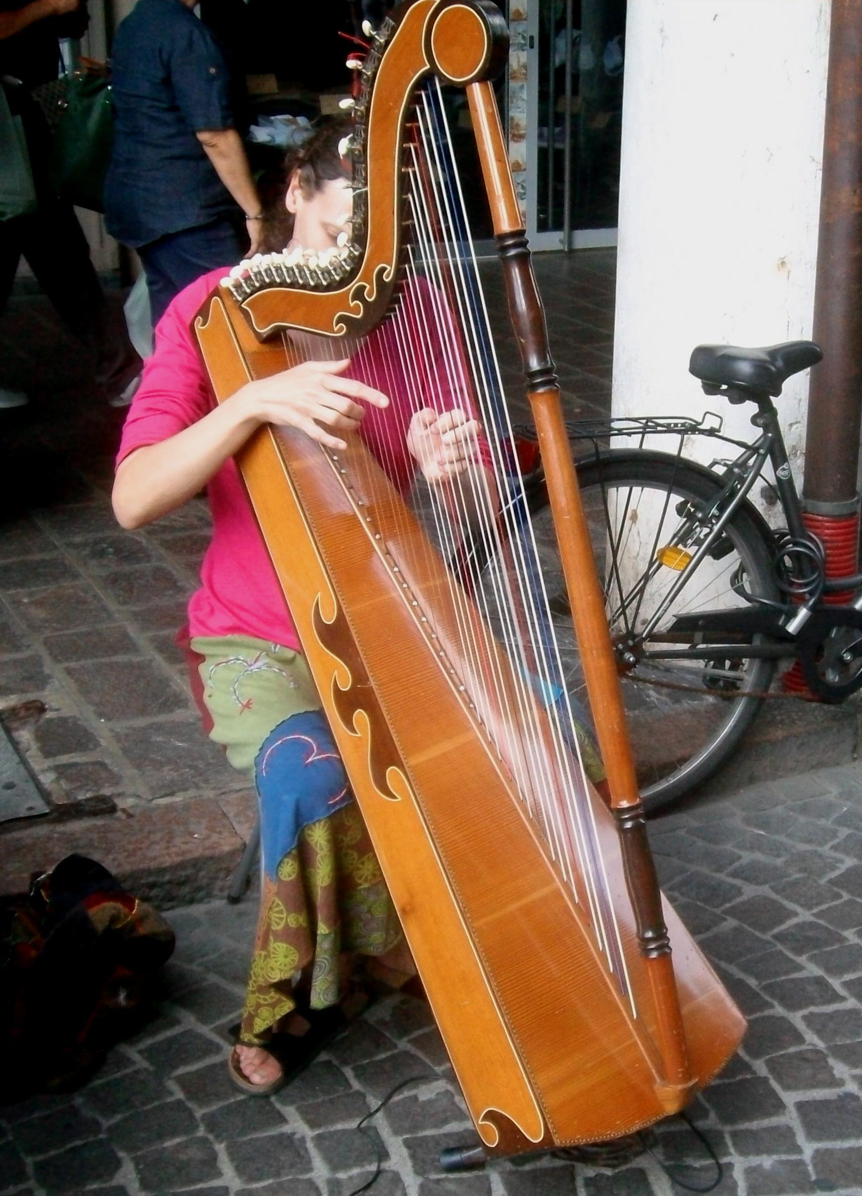 Giovane arpista a Mantova - Foto Guido Comin PoetaMatusèl